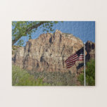 American Flag in Zion National Park I Jigsaw Puzzle
