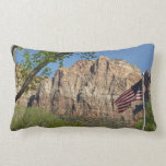 American Flag in Zion National Park I Lumbar Pillow