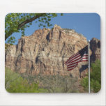 American Flag in Zion National Park I Mouse Pad