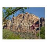 American Flag in Zion National Park I Postcard