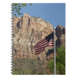 American Flag in Zion National Park I Spiral Notebook