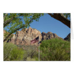 American Flag in Zion National Park II Card