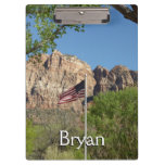 American Flag in Zion National Park II Clipboard