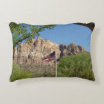 American Flag in Zion National Park II Decorative Pillow