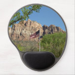 American Flag in Zion National Park II Gel Mouse Pad