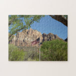 American Flag in Zion National Park II Jigsaw Puzzle
