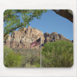 American Flag in Zion National Park II Mouse Pad
