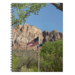 American Flag in Zion National Park II Notebook