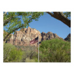 American Flag in Zion National Park II Photo Print