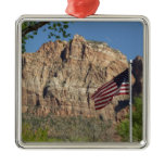 American Flag in Zion National Park Ornament