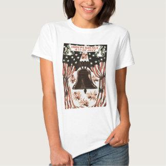 American Flag Independence Bell Fireworks Shirt