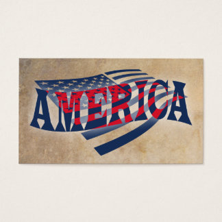 American Flag Independence Business Card