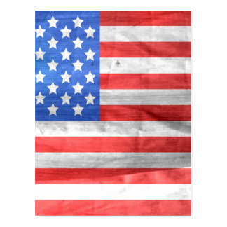 American Flag Independence Day 4 th July Postcard