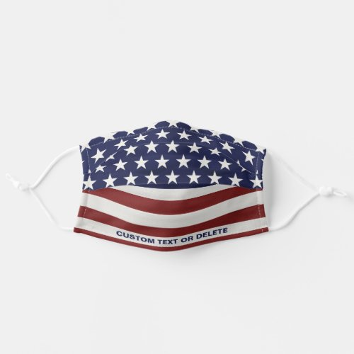 American Flag Inspired Red White Blue USA Custom Cloth Face Mask