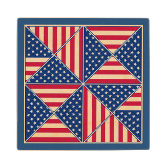 American Flag Inspired Wood Coaster
