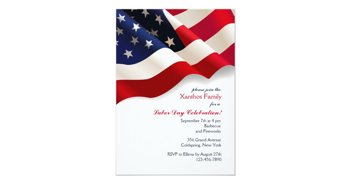 American Flag Invitation Zazzle Com