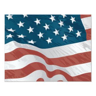 American Flag 4.25x5.5 Paper Invitation Card