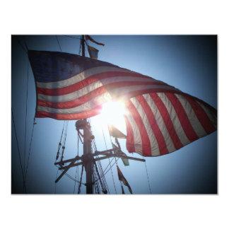 American flag personalized invite