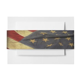 American Flag Invitation Belly Band