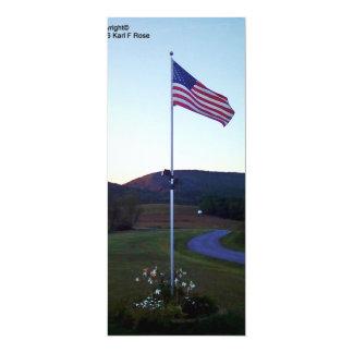 American flag invitations