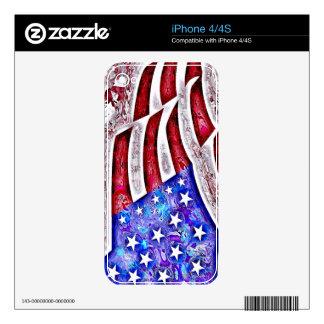 AMERICAN FLAG iPhone Skin iPhone 4S Decal