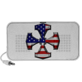 American Flag Iron Cross Portable Speakers