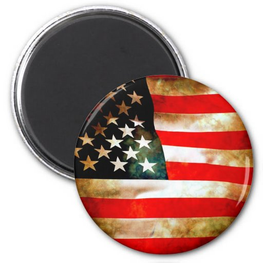 American Flag Items 2 Inch Round Magnet