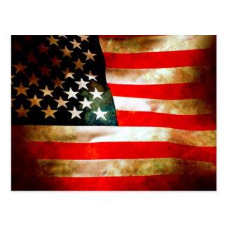 American Flag Items Postcard