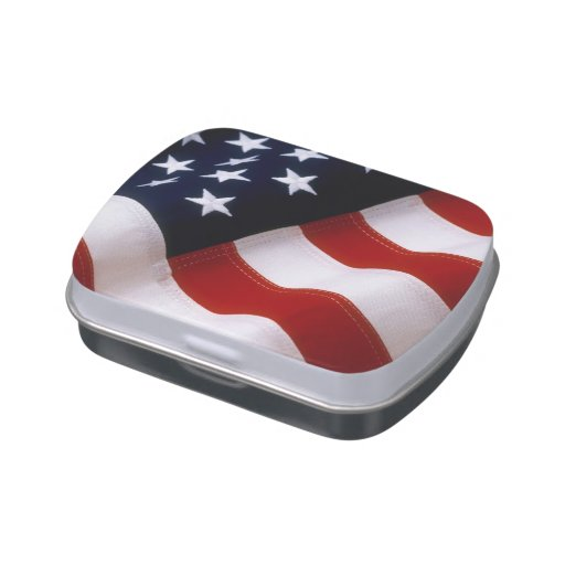 AMERICAN FLAG JELLY BELLY CANDY TIN
