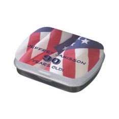 American Flag Jelly Belly Candy Tin 90th Birthday at Zazzle