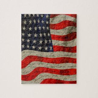 American flag jigsaw puzzle