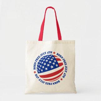 American Flag July 4th Tote Bag