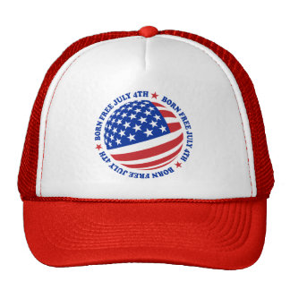 American Flag July 4th Trucker Hat