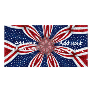 American Flag Kaleidoscope Abstract 1 Card