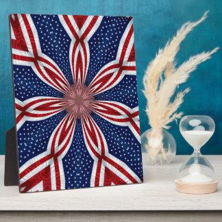 American Flag Kaleidoscope Abstract 1 Plaque