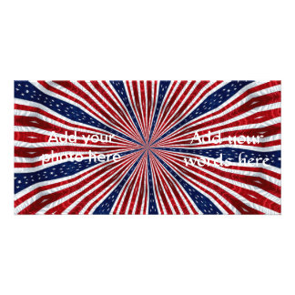 American Flag Kaleidoscope Abstract 2 Card