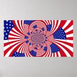 American Flag Kaleidoscope poster