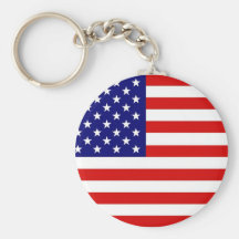 American Flag Key Chain