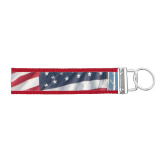 American Flag Keychain Wrist Keychain