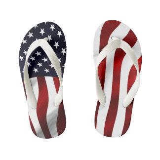 American Flag Kid's Flip Flops