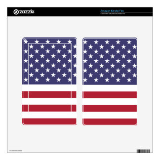 American Flag Kindle Fire Decals