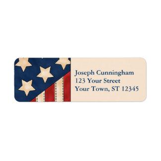 American Flag Custom Return Address Labels
