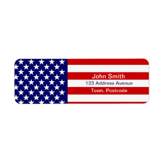 American flag custom return address label