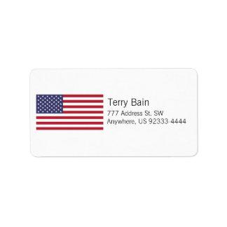American Flag Label
