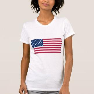 American Flag Ladies Casual Scoop Neck t-shirt