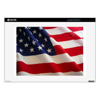 American Flag Laptop Decal