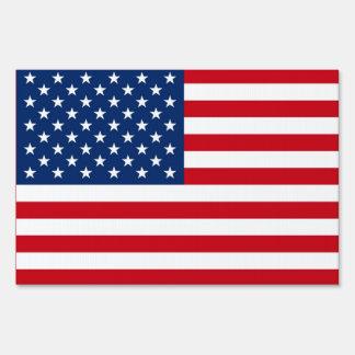 American Flag Lawn Yard Sign