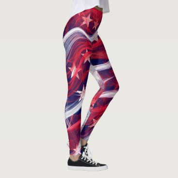 USA Themed American flag leggings