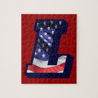 """American Flag Letter """"L"""" Puzzles"""