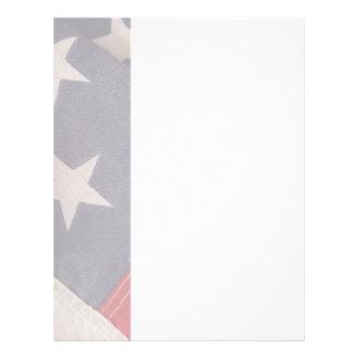 American flag letterhead vertical